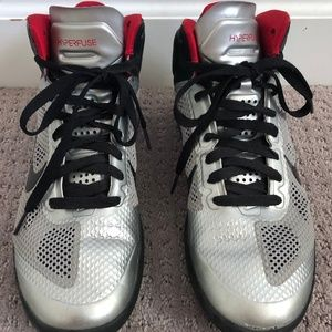 Nike Silver Hyperfuse Shoes